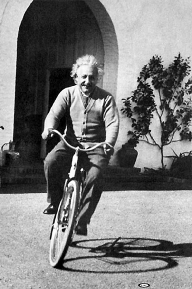 Albert Einstein Riding Bicycle, 1933 | Vintage News Daily